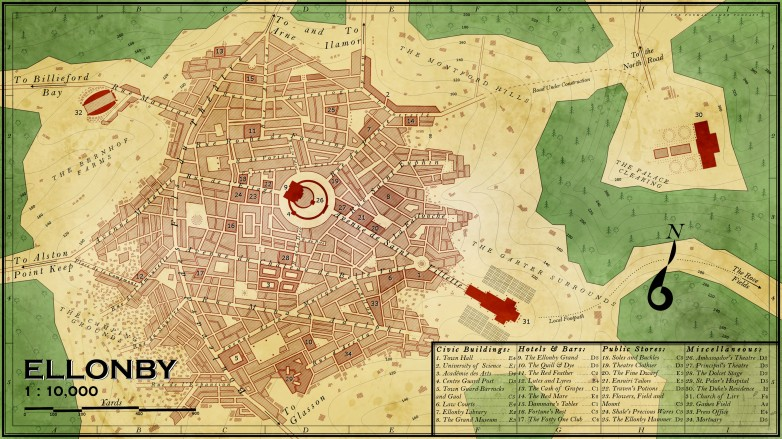 Ellonby Map